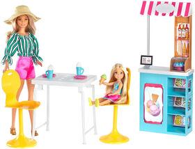 Barbie - Poupée et coffret de jeu - Café des glaces