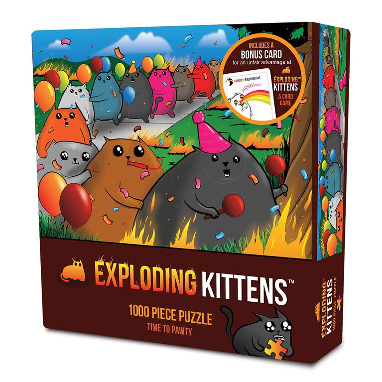 Exploding Kittens: Time to Pawty 1000 Piece Puzzle
