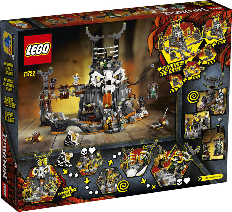 LEGO Ninjago Le donjon du Sorcier au Crâne 71722