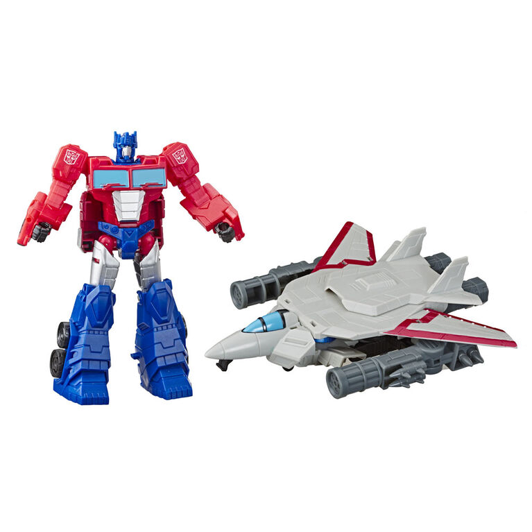 Transformers Cyberverse Spark Armor Optimus Prime Action Figure.
