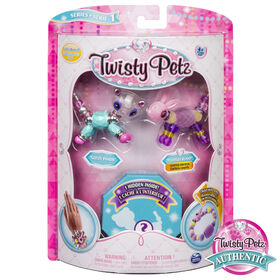 Twisty Petz - Pack de 3 - Bijoux pour enfants à collectionner Glitzy Panda, Fluffles Bunny et animal surprise