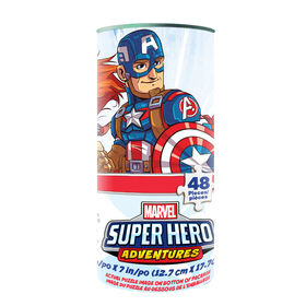 Marvel Super Hero Adventures 48-Piece Jigsaw Puzzle in Tube