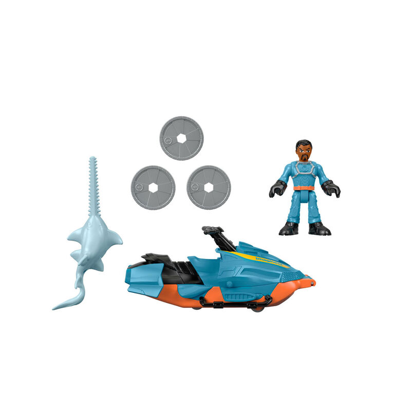Fisher-Price - Imaginext - Motomarine de Patrouille des requins