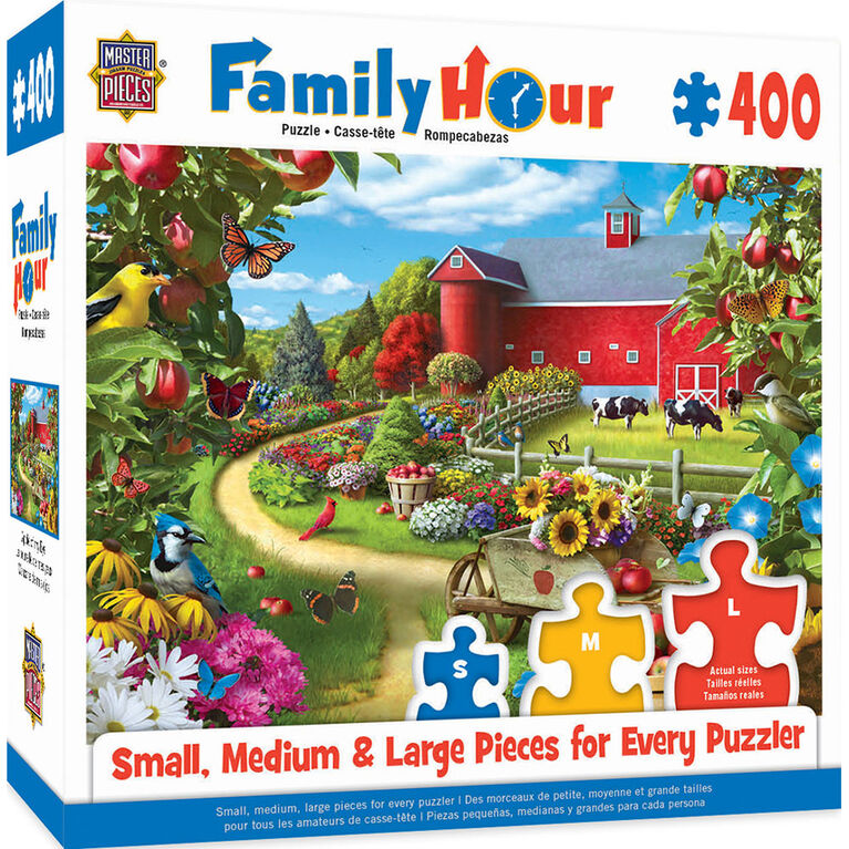 Family Hour Apple Of My Eye Large 400 Piece Ezgrip Jigsaw Puzzle By Alan Giana