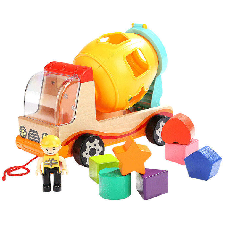 Mima Toys - Mixer Truck With Shape Sorter