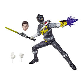 Power Rangers Lightning Collection, figurine premium de collection Dino Charge Ranger noir - Notre exclusivité
