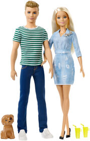 Barbie and Ken Dolls with Puppy Giftset