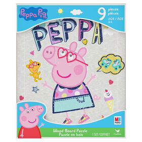 Peppa Pig, 9-Piece Woodboard Puzzle