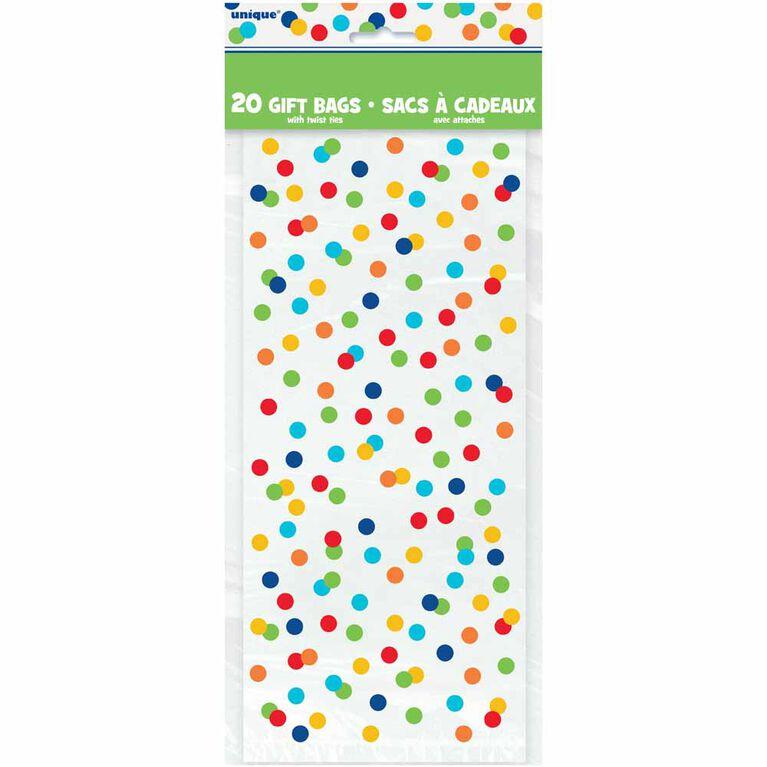 8 Sacs A Cadeaux - Rainbow Polka Dot