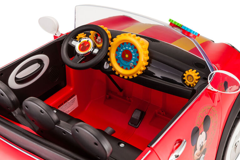 KidTrax 12V Mickey Mouse Hot Rod Coupe