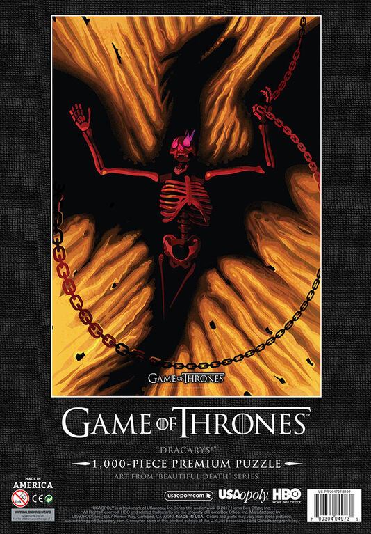 """Game of Thrones """"Dracarys!"""" 1000 Piece Puzzle"""