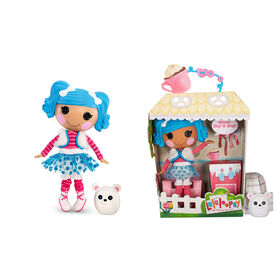 """Lalaloopsy Doll - Mittens Fluff 'N' Stuff with Pet Polar Bear, 13"""" winter-inspired doll"""