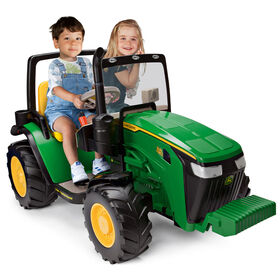 John Deere Dual FC 12V Ride-On Tractor