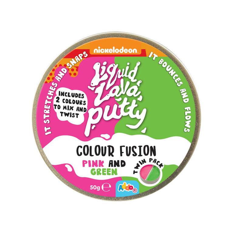 Nickelodeon Liquid Lava Putty Colour Fusion Pink and Green - Notre exclusivité