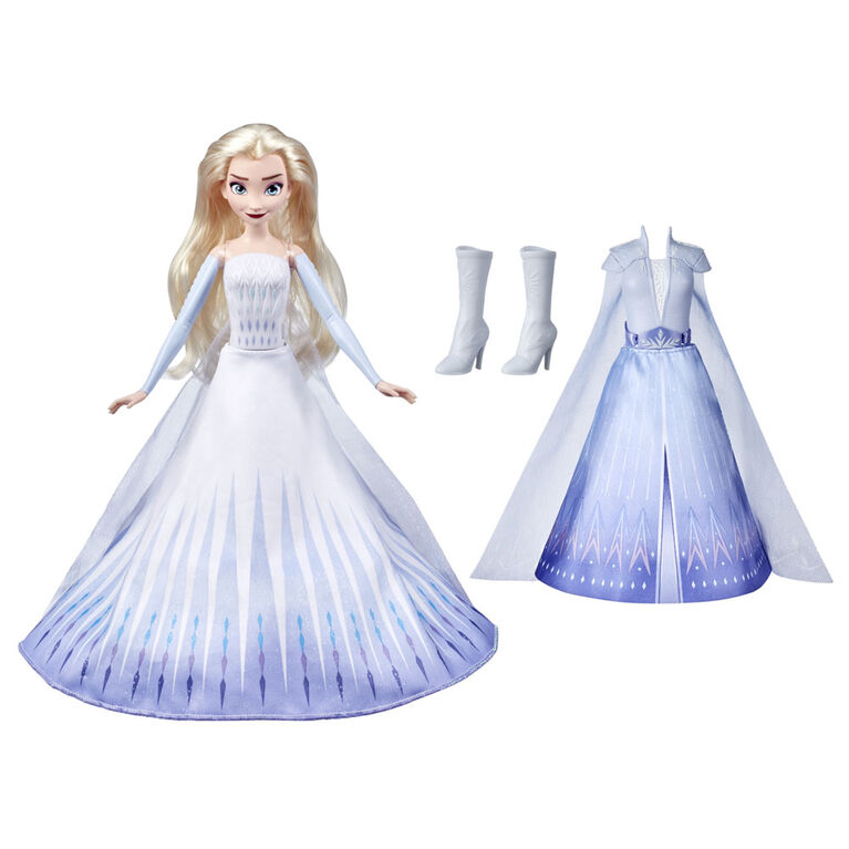 Disney's Frozen 2 Elsa's Transformation Fashion Doll With 2 Outfits and 2 Hair Styles
