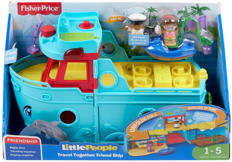Fisher-Price Little People Travel Together Friend Ship - Bilingual Edition