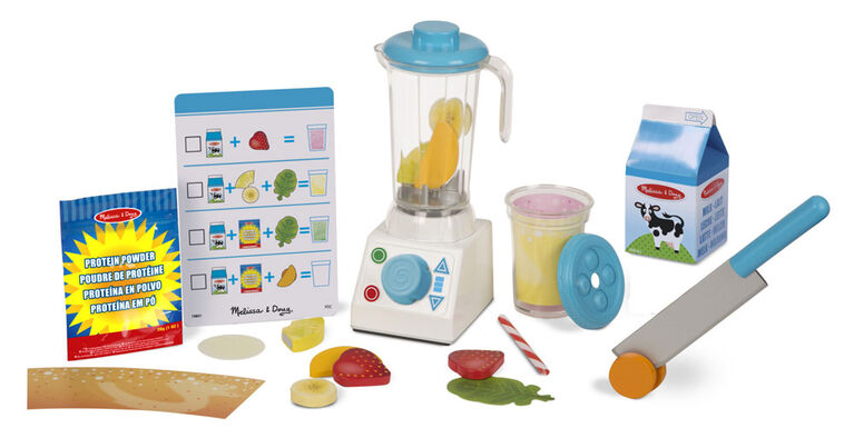 Melissa & Doug Smoothie Maker Blender Set with Play Food - 24 Pieces