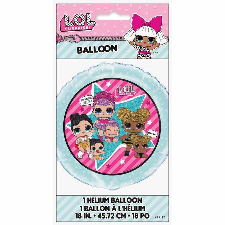 "Ballon aluminium rond, 18 "" - LOL Surprise"