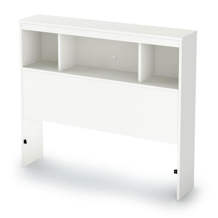 Spark Tête de lit bibliothèque- Blanc solide