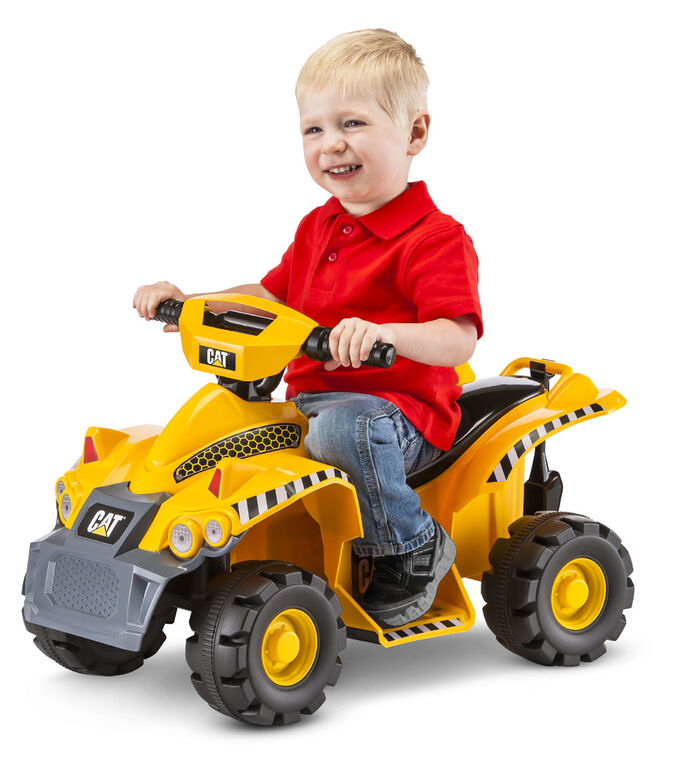 CAT- 6V Toddler Quad Ride On - Yellow