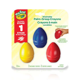 Crayola - My First WASH Palm-Grip Crayons