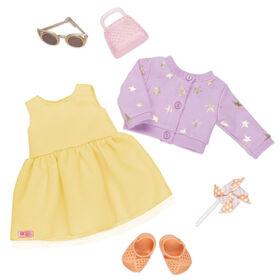 Sunshine & Stars, Our Generation, Robe d'été pour poupées de 18po