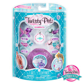 Twisty Petz, Series 3 Babies 4-Pack, Snow Leopards and Koalas Collectible Bracelet Set and Case