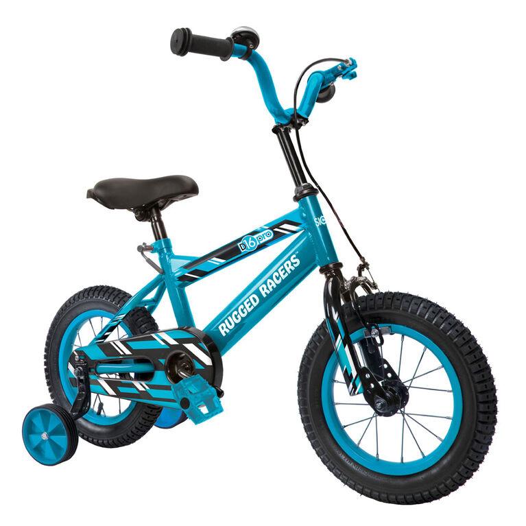 Vélo pour enfants Rugged Racer 16 pouces avec roues d'entraînement - Bleu - Édition anglaise