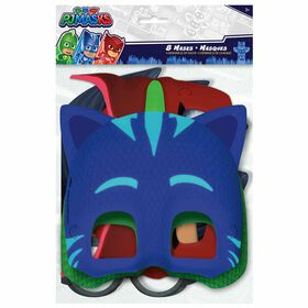 PJ Masks Party Masks, 8 pieces
