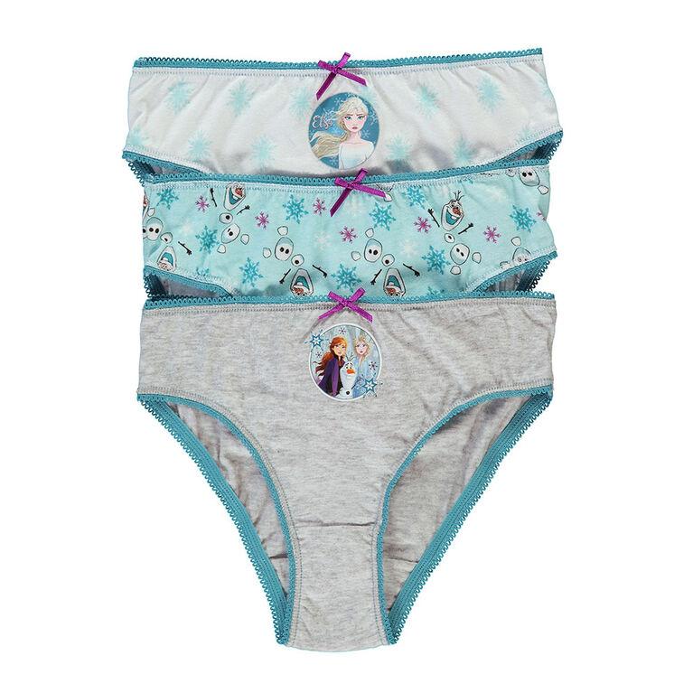 Disney Underwear Girls Knit 3 pk Frozen II - Size 6X