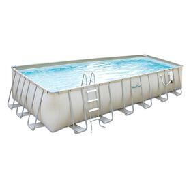 Ensemble de piscine à cadre métallique 3,66 m (12 pi) x 7,32 m (24 pi) rectangulaire 1,32 m (52 po) de profondeur