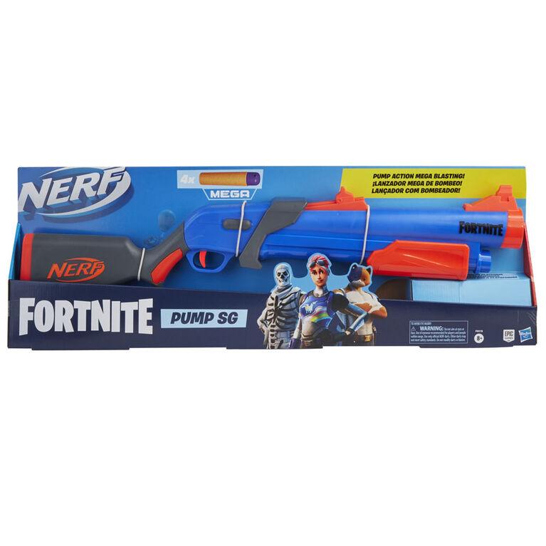Nerf Fortnite, blaster à pompe Pump SG à fléchettes Mega