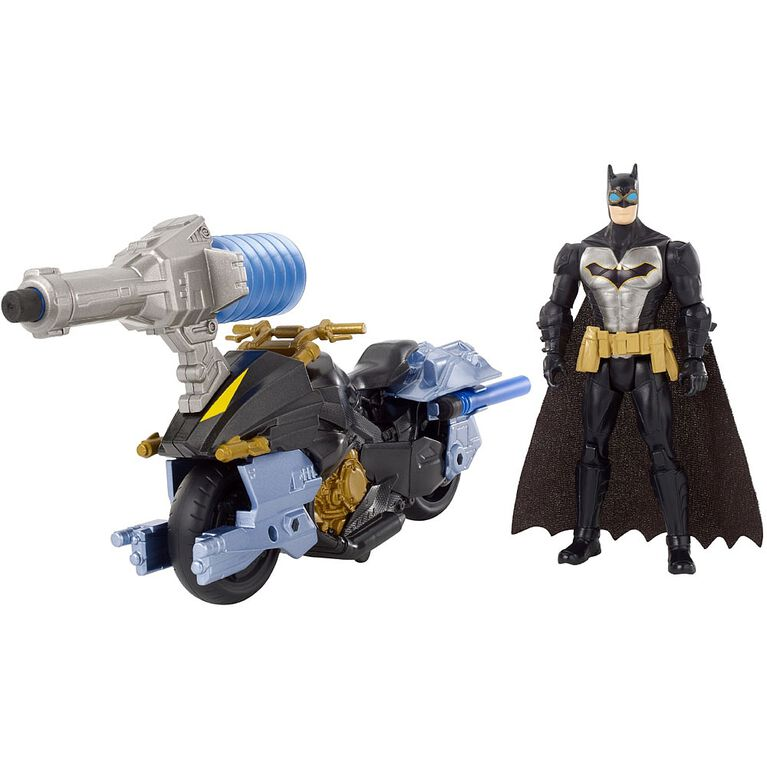 Batman Missions Air Power Blast Attack Batman & Batcycle