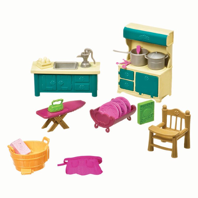 Li'l Woodzeez, Kitchenette & Housekeeping Playset