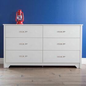 Fusion Bureau double 6 tiroirs- Blanc solide
