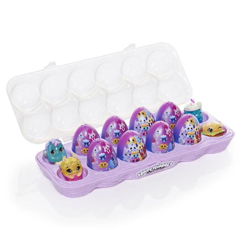 Hatchimals CollEGGtibles, Limmy Edish Hatchy Treat Yo'Self 12-Pack Egg Carton with Exclusive Hatchimals