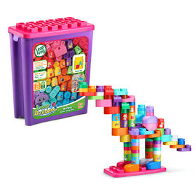 LeapFrog LeapBuilders 81-Piece Jumbo Blocks Box - Pink - Édition anglaise