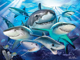Howard Robinson Shark Selfie 100 pc Super 3D Puzzle<br>