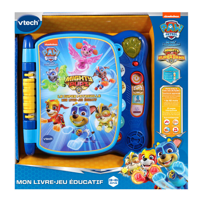 VTech PAW Patrol Mighty Pups Touch & Teach Word Book - French Edition