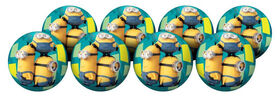 8 Pack Playball with Pump 4 inch Minions