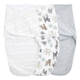 Aden + Anais Toile 3 pack  Wrap Swaddle 0-3 mois Neutral