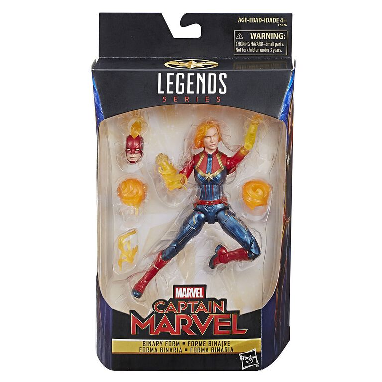 Marvel Legends Series 6-inch Captain Marvel (Binary Form) Figure - R Exclusive
