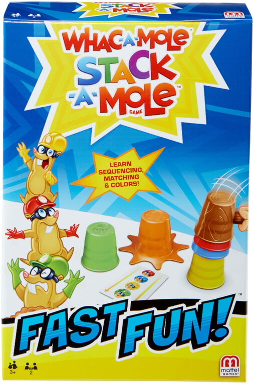 Whac-a-mole Stack-a-mole Fast Fun Game