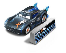 Disney/Pixar Cars XRS Rocket Racing Jackson Storm with Blast Wall
