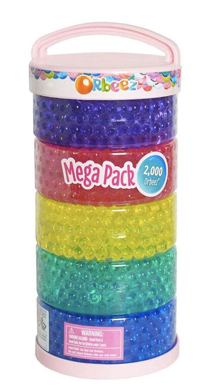 Orbeez, Mega Pack contenant 2 000 billes Orbeez gonflées dans 5 couleurs pour jouer avec de grandes quantités