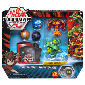 Bakugan, Battle Pack 5 personnages, Ventus Phaedrus and Pyrus Hydranoid