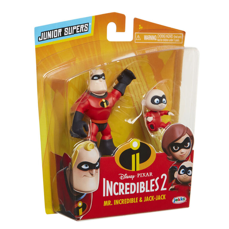 "Incredibles 2 3"" Precool 2-Pack Figures Assortment Mr Incredible and Jack-Jack"