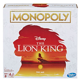 Jeu Monopoly: édition Le roi lion de Disney
