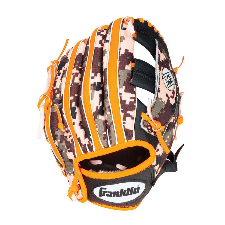 "95"" Cammo Digi Baseball Glove -Black/Orange"
