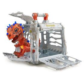 Untamed Jailbreak Playset - Spike (Brown) - Interactive Collectible Dinosaur